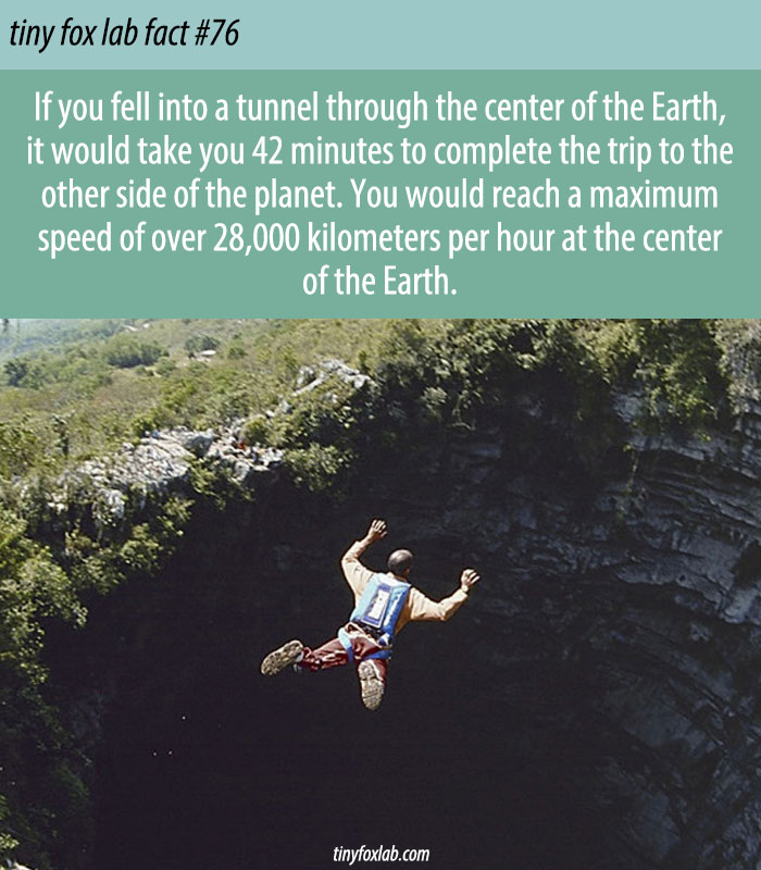 Digging a Tunnel through the Earth