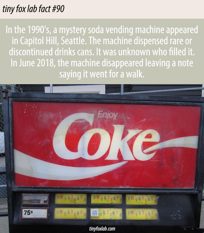 Capitol Hill's Mystery Soda Machine