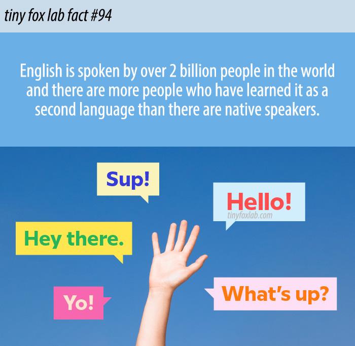 Two Billion People Speak English
