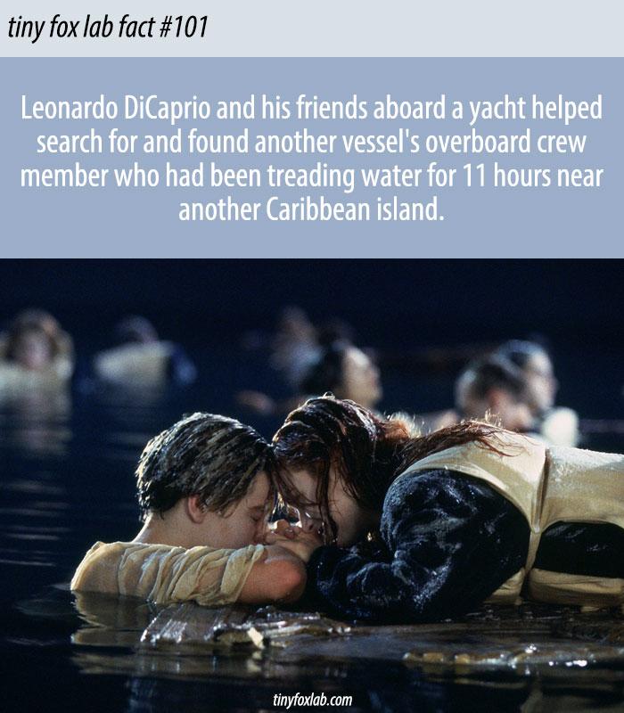 Leonardo Dicaprio Helped Save the Life of a Man