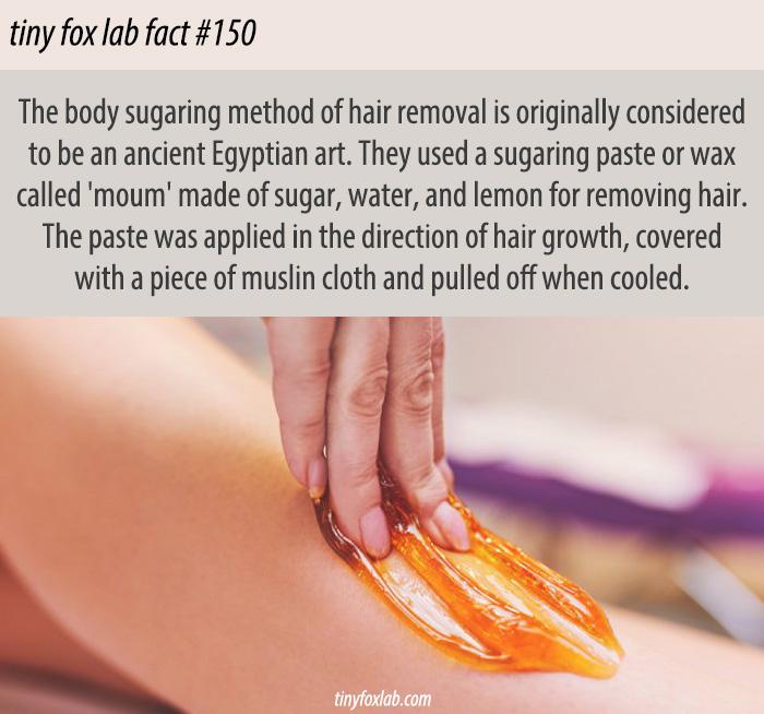 Sugaring Hair Removal History