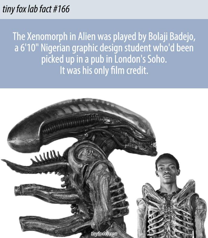 Bolaji Badejo Played the Xenomorph in Alien