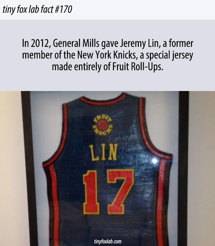 Jeremy Lin Has a Fruit Roll-Up Jersey
