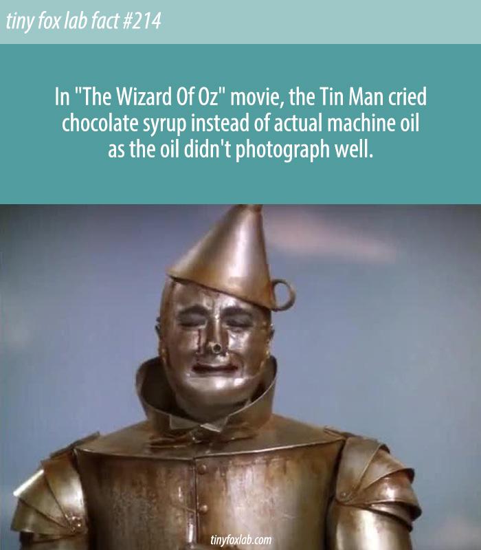 The Tin Man Cried Chocolate Syrup