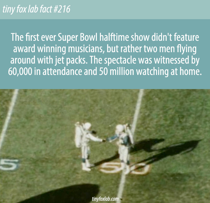 The Bizarre First Super Bowl Halftime Show