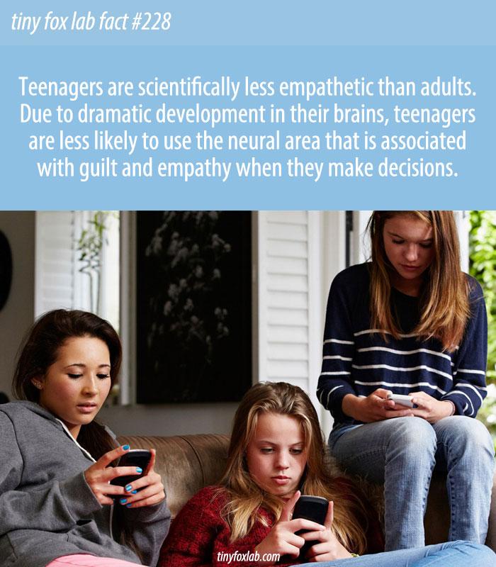 Teenage Brain Lacks Empathy