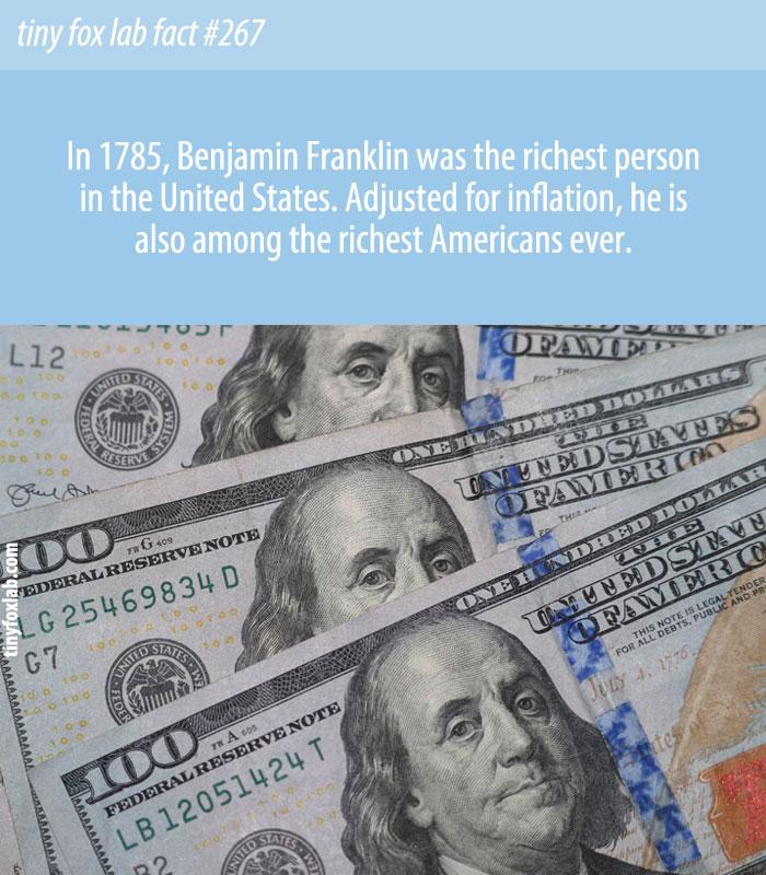 Wealthy Benjamin Franklin