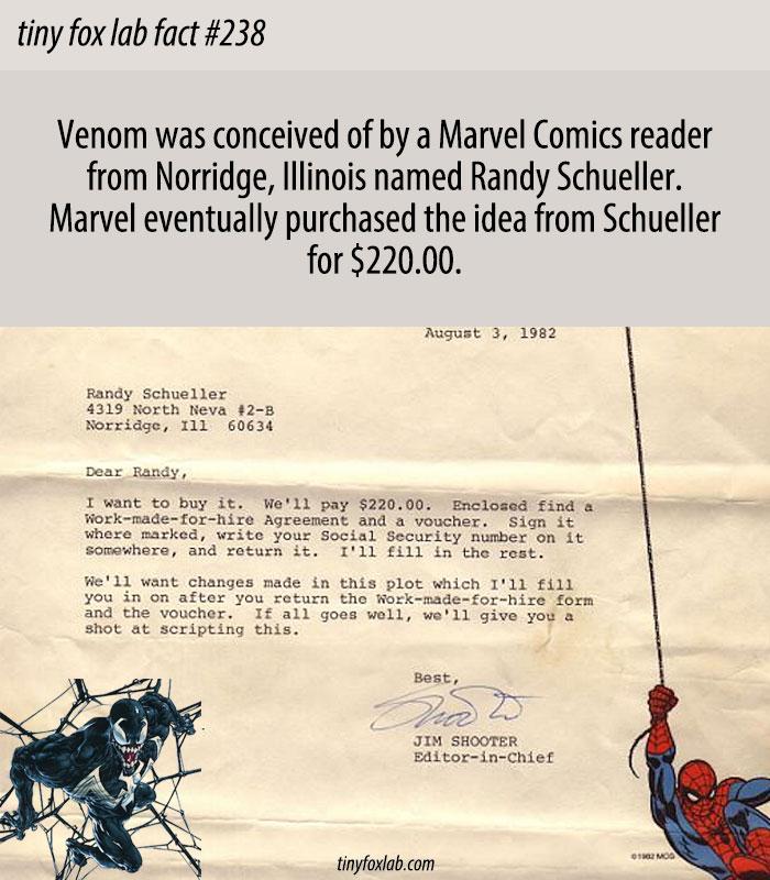 Venom Was Originally Created By A Marvel Fan