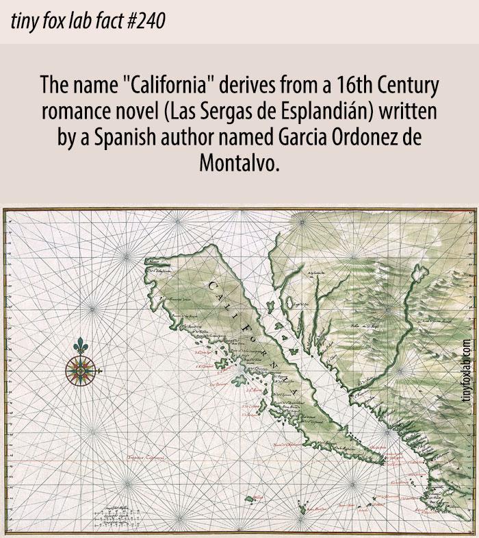 California State Name Origin
