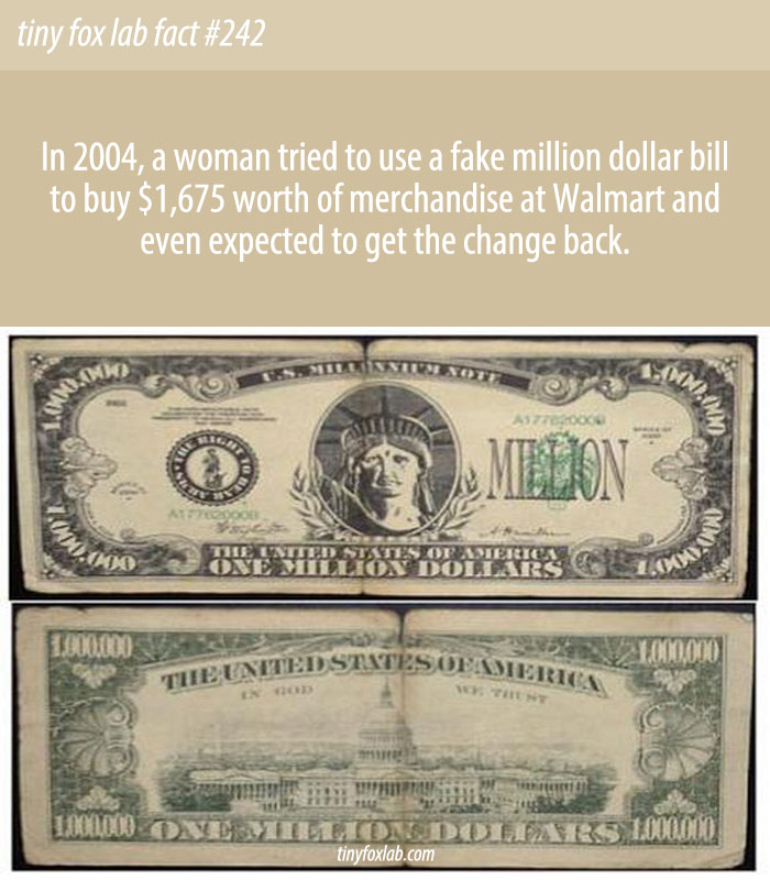 Woman Shops with Fake $1M Bill