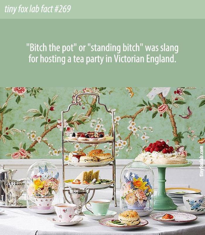 Tea Party Slang