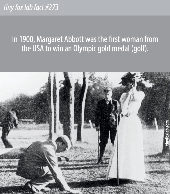 Margaret Abbott was the first woman from the USA to win an Olympic gold medal.