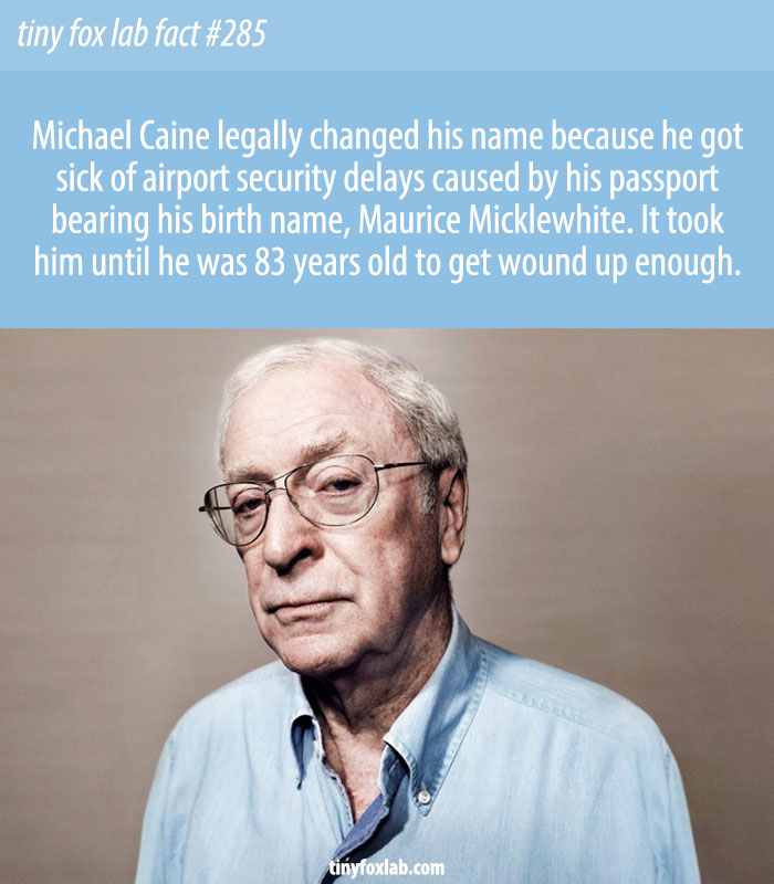 Michael Caine Has Changed His Name