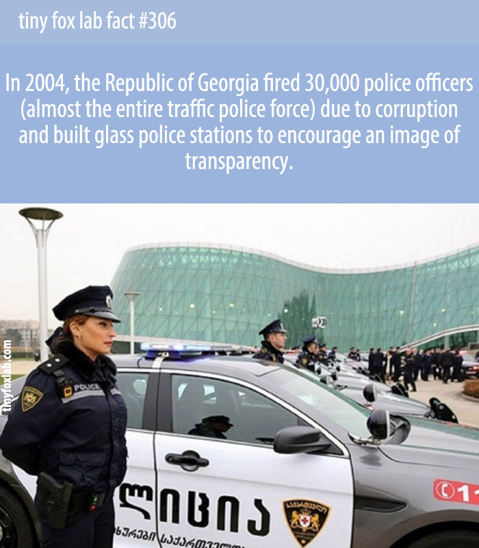 The president of Georgia (the country) fired the entire Georgian police force in 2004 because of its corruption.
