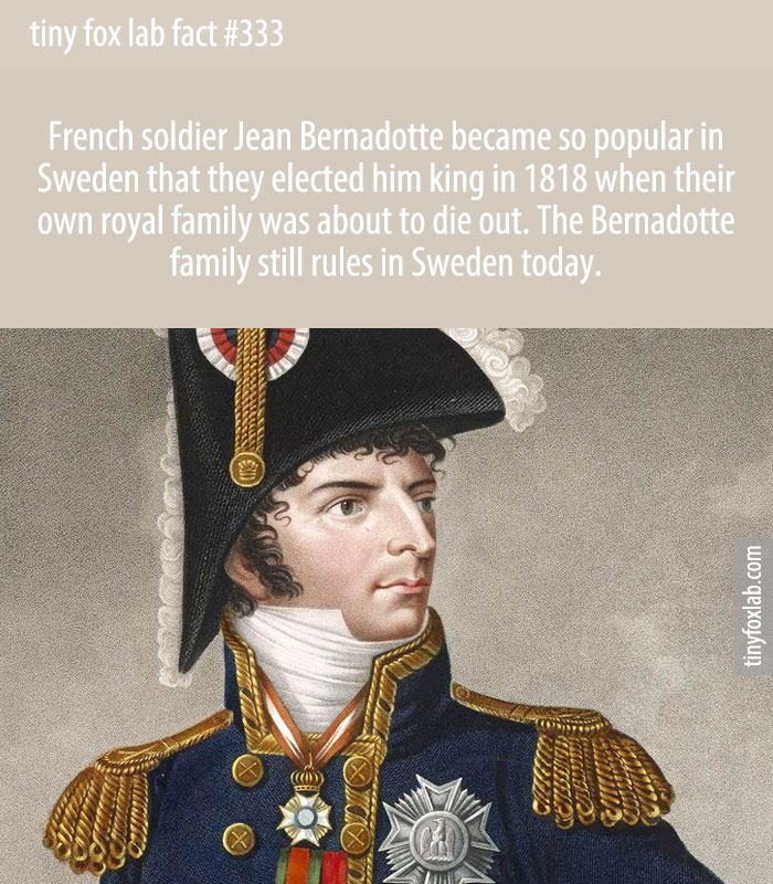 French soldier Jean Bernadotte became so popular in Sweden that they elected him king in 1818 when their own royal family was about to die out. The Bernadotte family still rules in Sweden today.