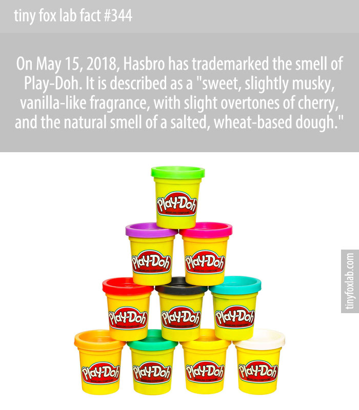 On May 15, 2018, the United States Patent and Trademark Office officially registered the distinctive smell of Play-Doh, a favorite childhood toy for many.