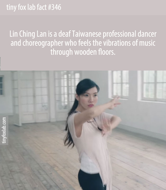 Lin Ching Lan is a deaf Taiwanese professional dancer and choreographer who feels the vibrations of music through wooden floors.