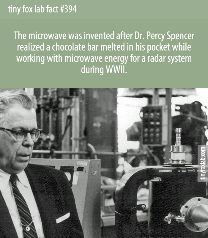 Percy Spencer was working on radar technology at Raytheon when a chocolate bar melted in his pocket. That gave him an idea for an invention.